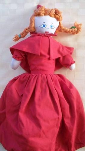 1970's Topsy - Turvey red riding hood cloth doll (3 dolls in 1)