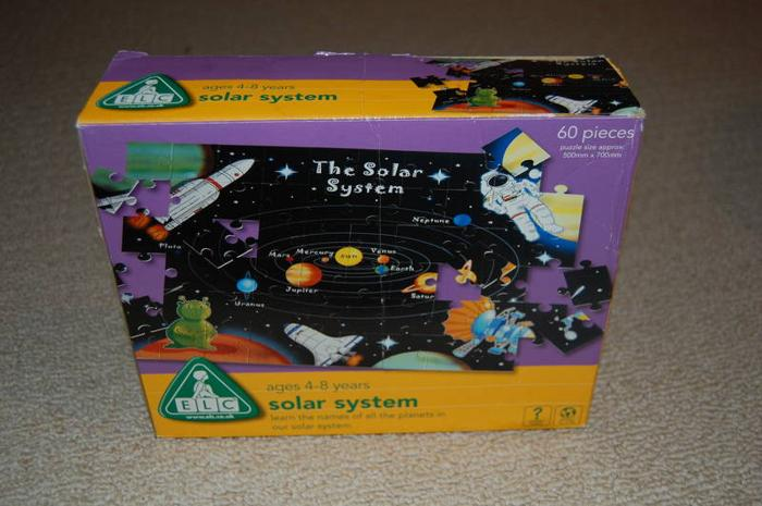 3 Complete Puzzles - Solar System - Cars - Tinkerbell