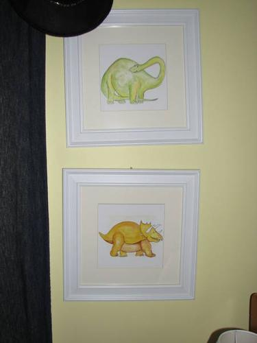 3 pictures with frames for kids room
