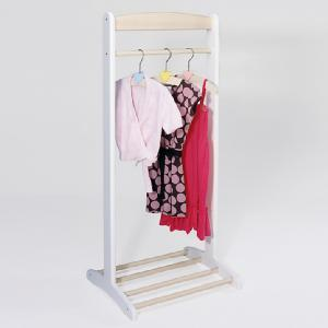 'Pin Toys' White Wooden Clothes Rack Rail Stand