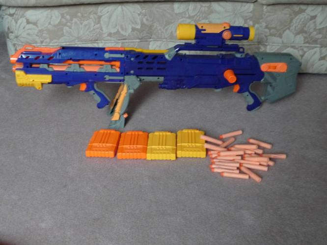 View in gallery Stampede ECS 50 nerf guns 960x640 Arm Yourself for Cubicle  Combat with the 20 Best Nerf