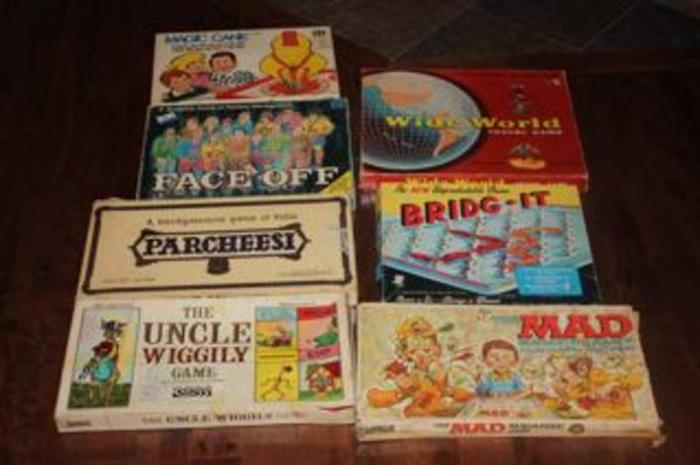 60s Board Games 7 Vintage Board Games From The