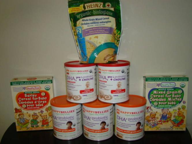 8 x Organic Baby Cereal --Never opened, Over $35 value--