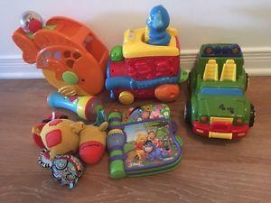 A lot of nice baby first year toys