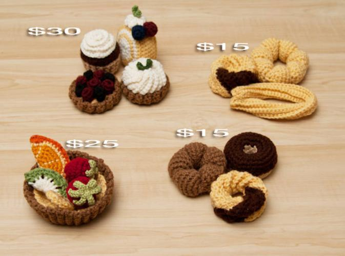Adorable Crochet Cakes, Donuts, and Tarts