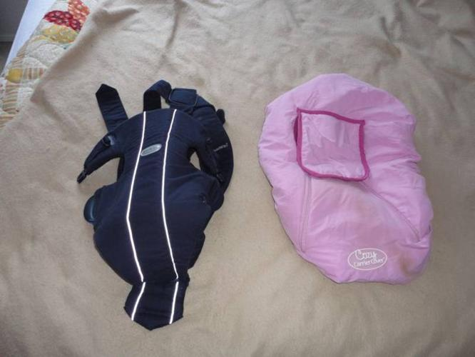 Baby Bjorn carry on snugly, pink baby girl car seat cover