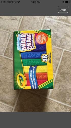 big brand new box of chalk