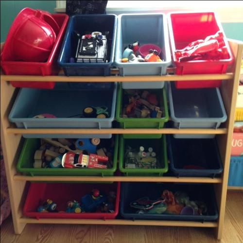 Book shelf and toy storage set