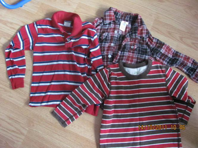 Boys long sleeve shirts size 3