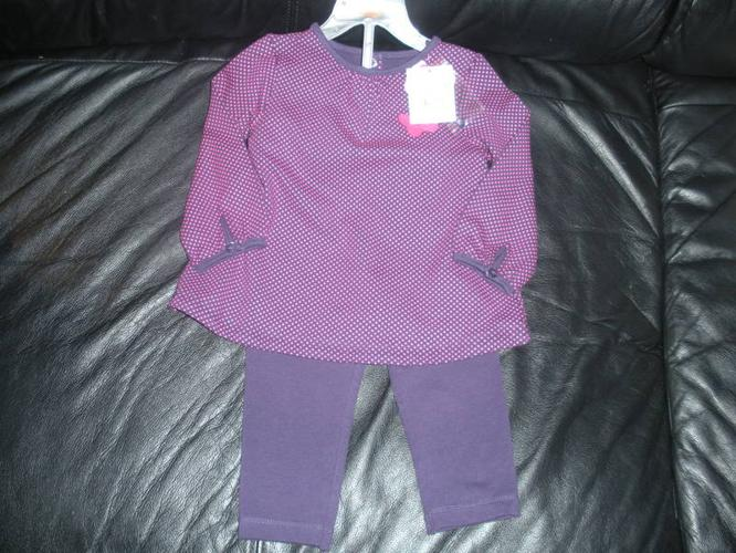 **BRAND NEW with TAGS Purple 12-18 months Two-Piece Outfit-$10**