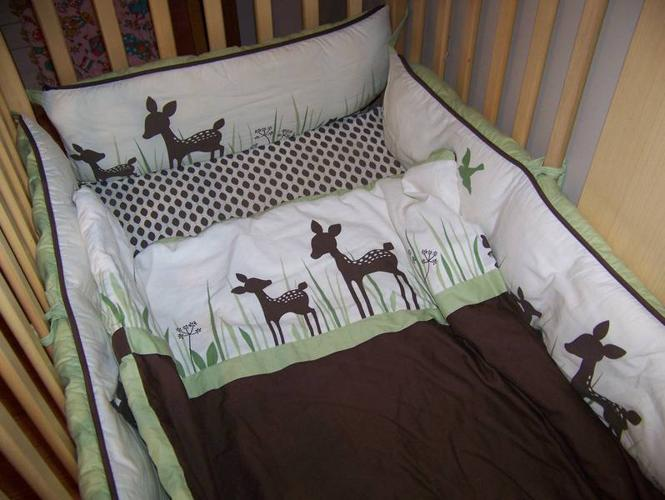 Brown And Green Deer Baby Bedding See My Other Ads For