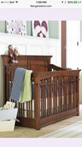 Craftsman style solid wood crib/toddler bed/double bed