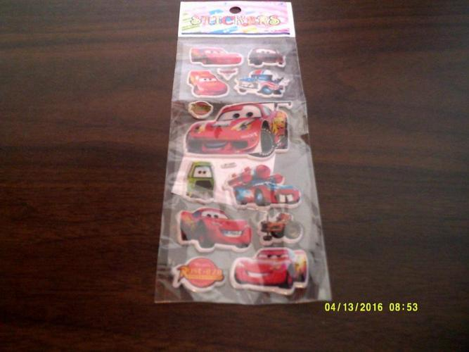 DISNEY: CARS: STICKER PACK - NEW!!!