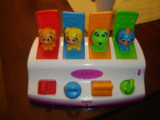 Toys That Pop Up : Fisherprice colorful pop up toy with sounds for sale in