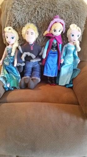 Four Frozen 18 inch dolls from The Disney Store