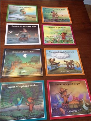 French Books - Simon series by Gilles Tibo, 8 softcover books