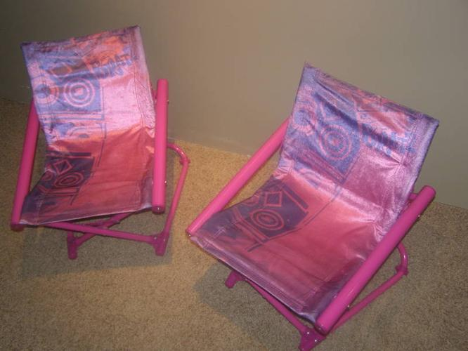 Girls fold away chairs
