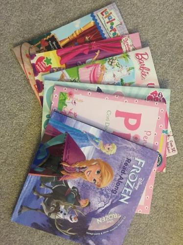 girls lot of books