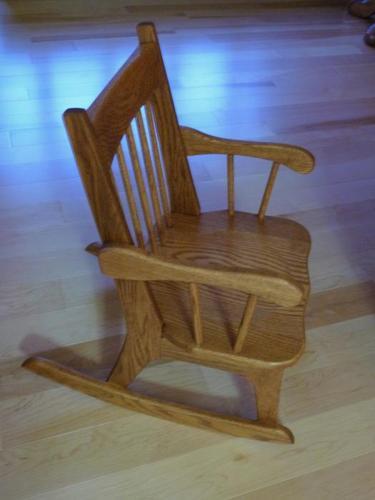 Handcrafted children's rocking chairs