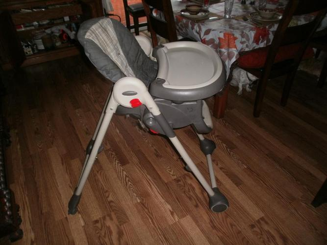 high chair and booster seat