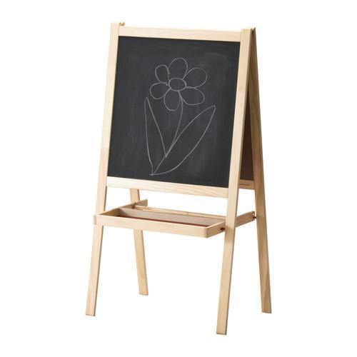 IKEA 'MALA' EASEL with Black & White Boards