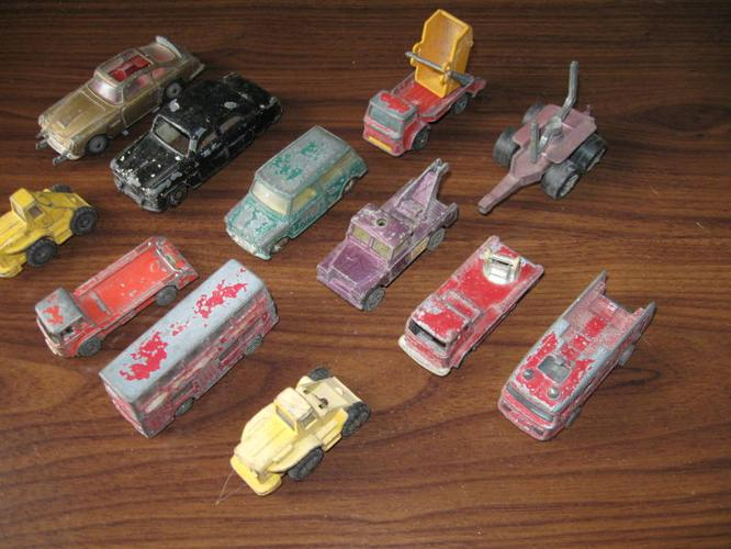 Interesting Group of 12 Very Old CORGI DINKY TOYS..[Stamped].