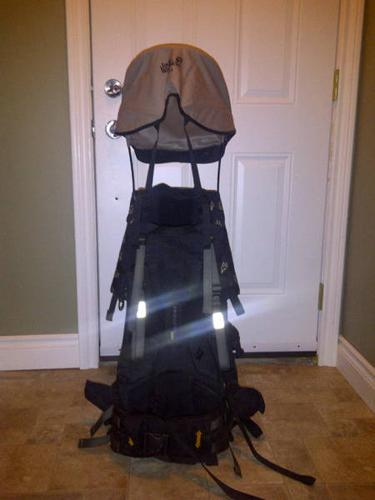 f83a3dbb8cd Jack Wolfskin watchtower premium baby carrier with backpack for sale ...