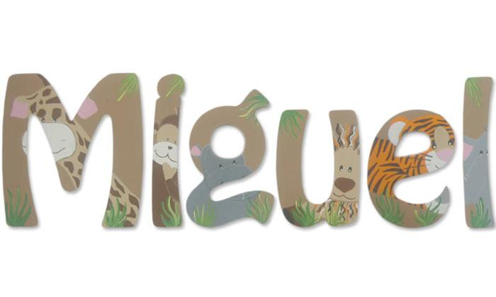 Jungle Babies themed wall letters