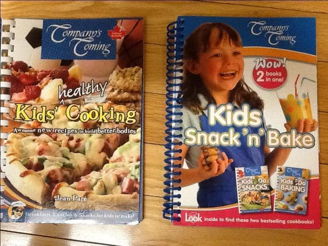 Kids cook books from companies coming