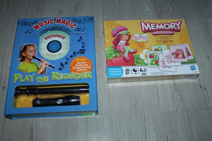 Kids toys. Flute and memory toy