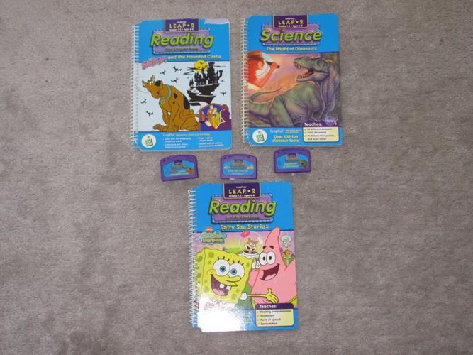 Leap frog books & cartridges