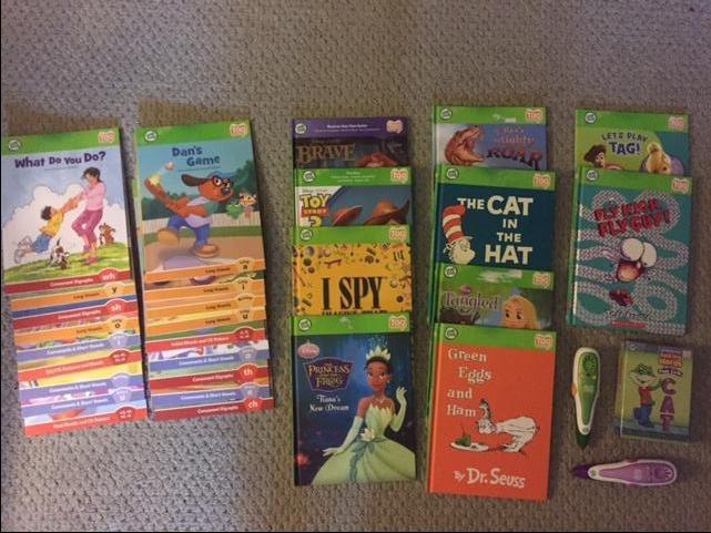 Leap Frog sets including two readers, series and cards
