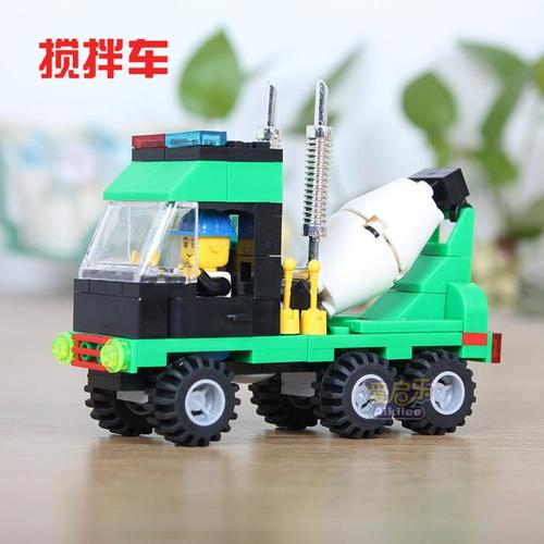 Lego-compatible: green cement truck - NEW!!!