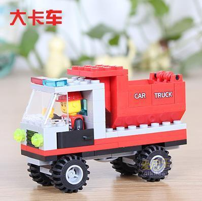 Lego-compatible: red dump truck - NEW!!!