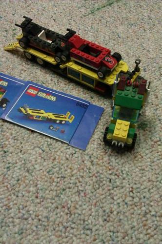 LEGO SEMI TRUCK WITH CARS