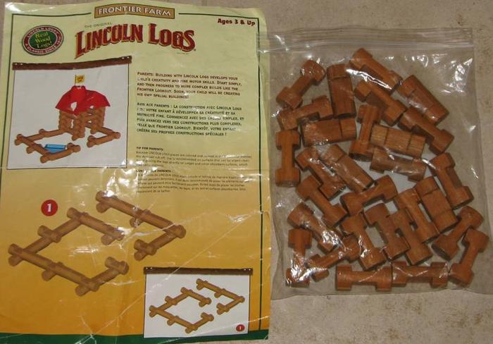 Lincoln Logs Wood Building Logs