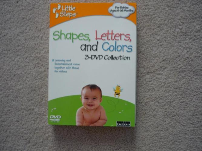 Little Steps: Letters, Shapes and Color Educational 3 DVD
