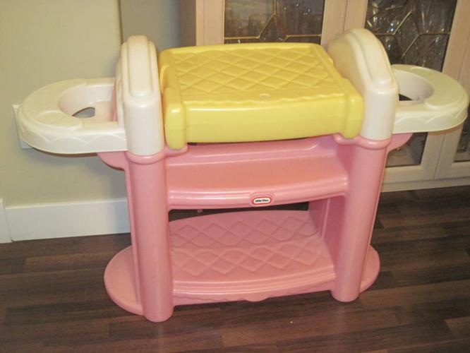 Little Tikes Doll Change Table, Bath U0026 Double Highchair Set