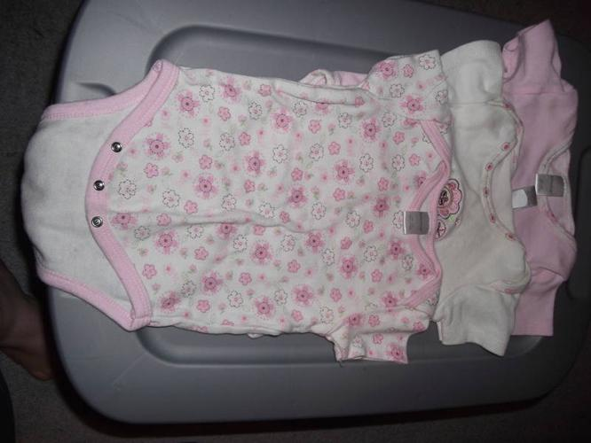 Lot of 9 onesies for a baby girl 3-6 months
