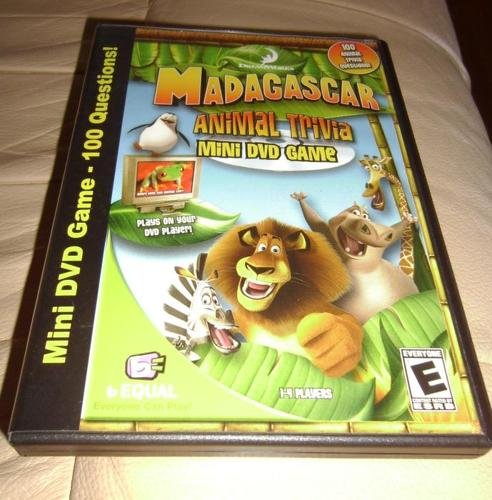 Madagascar Animal Trivia Mini DVD Game
