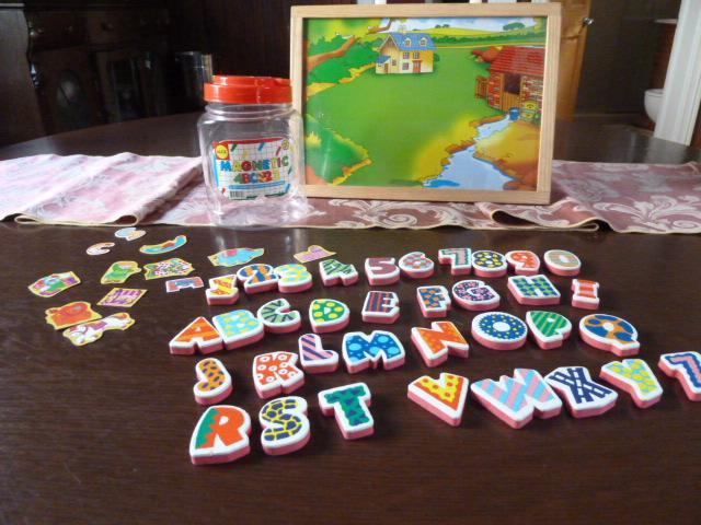 Magnetic ABC & 123 Kit and Magnetic Board By ALEX