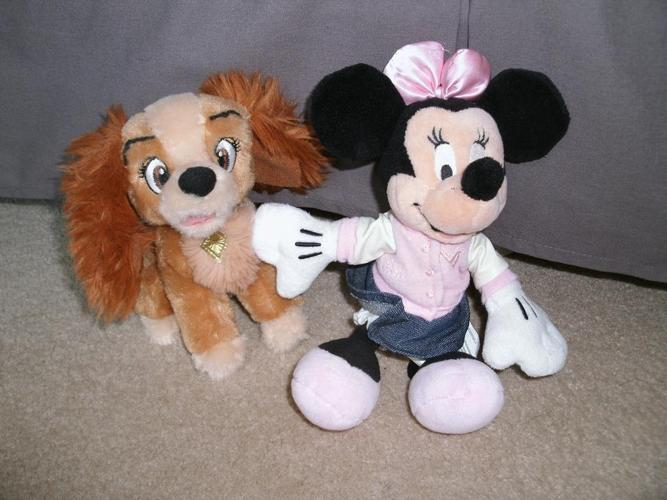 Minnie Mouse and Lady stuffed animals - only $5