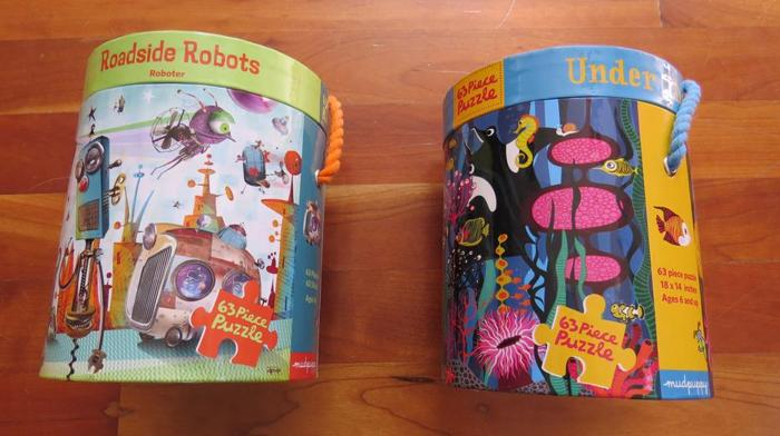 Mudpuppy Puzzles: Roadside Robots and Under the Sea
