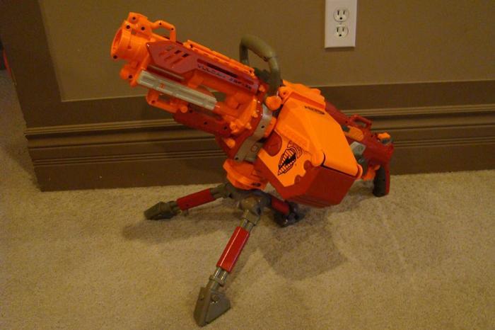 Nerf Gun - Rare - Red Strike Vulcan EBF-25