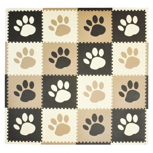 NEW Tadpoles Playmat Set 16-Piece Pawprint, Brown