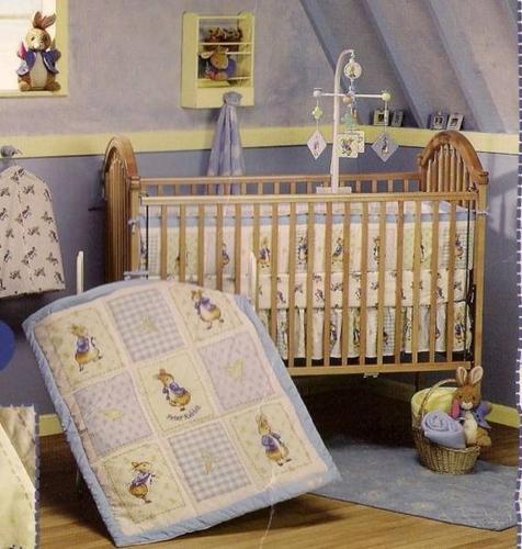 peter rabbit brand new 3 piece crib bedding never used