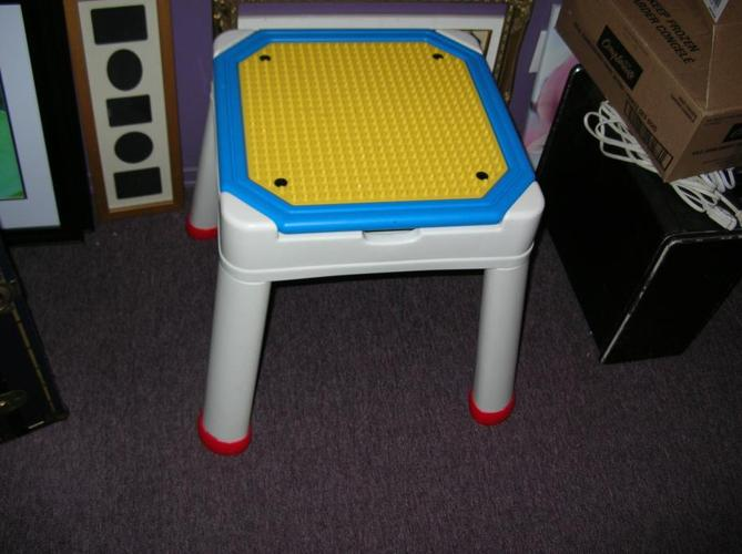 Play Table & Storage for Duplo or Mega Bloks Toys