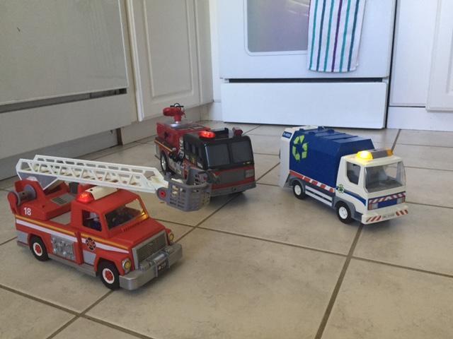 Playmobile and Tonka Trucks