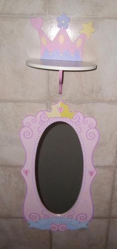 Princess Mirror with Shelf