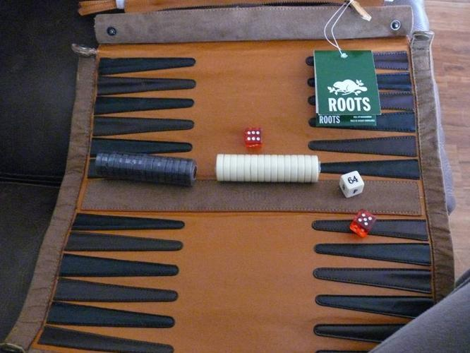 Roots Canada, Rollup Backgammon. New. Great Christmas present.